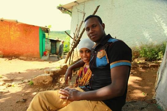 Abbas a jeho žena Naime.